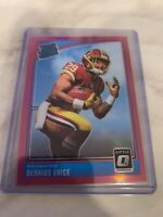 2018 DONRUSS OPTIC - DERRIUS GUICE #157 - PINK HOLO RATED ROOKIE RC REDSKINS