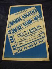 Partitura Maria Angelina y Beau soir de mayo a V. Camilleri Y F. Sekerech