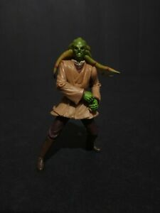 """2001 Hasbro Star Wars Kit Fisto Attack of the Clone 3.75"""" Loose Action Figure"""