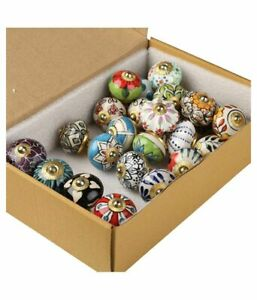 Wholesale Drawer Mix-Ceramic 10Pc Assorted Pull Handle Kitchen Indian Style Knob