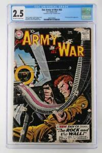 Our Army At War #83 - CGC 2.5 GD+ DC 1959 - 1st True Sgt. Rock App!