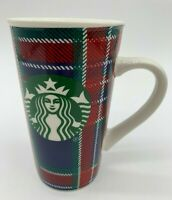 Starbucks Red Blue & Green Holiday Christmas Paisley Coffee Mug 16oz EUC!!