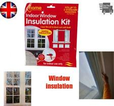 Indoor Window Insulation Draught Draft Kit Shrink Fit Clear Glazing Film Protect