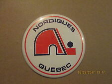 NHL Quebec Nordiques Vintage Defunct 6 Inch Stand Up Hockey Pinback Button