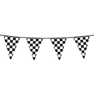 Black & White Chequered Flag Bunting F1 Racing Party Decoration 20Ft Long - New