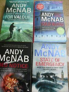 Andy McNab - Nick Stone & Tom Buckingham series - Paperbacks x 4 - See Details