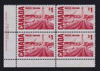 Canada Sc #465Biii (1967) $1 Centennial Pl. 2 LL Plate Block  LF PVA Gum Mint NH