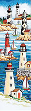 Cross Stitch Kit ~ Janlynn Lighthouses & Sailboats Sea Sampler #013-0229