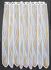 11,5 cm breite Scheibengardine 110 cm hoch mit Welle
