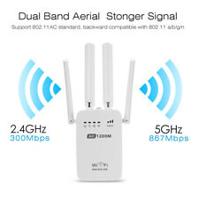 WiFi Range Extender 1200Mbps AC1200 Booster Dual band Repeater Wireless 2.4/5GHZ