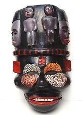"""Ogoni tribe yam mask Ibibio Nigeria Ekpo Idiok articulated jaw African 22"""" LARGE"""