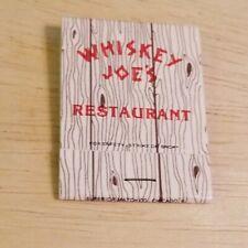 Vintage Matchbook Whiskey Joe's Restaurant Rocky Point Drive Tampa Florida FL