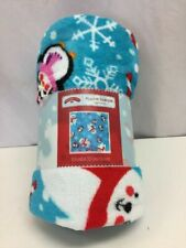 Plush Throw Blanket Penguins and Bears Design Great Gift For Christmas, New