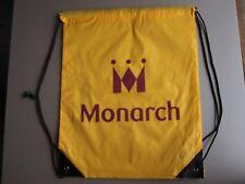 Monarch Airlines Yellow, Purple & Black Nylon Shoe Bag/Back Pack