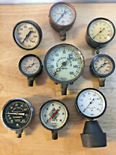 Lot Of 9 Various Vintage Equipment Gauges Industrial Steampunk Wilmot Castle Co.