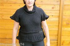 gros pull laine et vinyle noir hiver MC PLANET taille 40 NEUF ÉTIQUETTE Val 160€