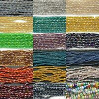 Freeshipping 100Pcs Top Quality Czech Crystal Faceted Rondelle Beads 1mm x 2mm