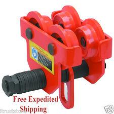 1 Ton Push Beam Trolley Hoist Winch Crane Lift Fits I Beams New