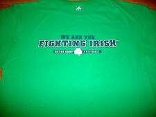 "Notre Dame Football 2010 ""The Shirt"" Fighting Irish Green Adidas T-Shirt YSm New"