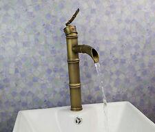 bambou laiton antique salle de bains bassin Robinet mitigeur