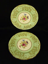 PAIR OF SIGNED VINTAGE ROYAL WORCESTER GILT & HAND PAINTED FLORAL CABINET PLATES