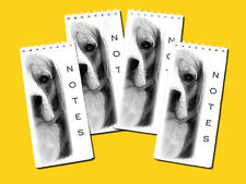 Beagle Dog pack of 4, Small Slim Pocket Note Pads Gift Set