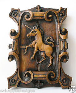 Unicorn Medieval Reproduction Carving Unique Gothic Magic Mythical Creature Gift
