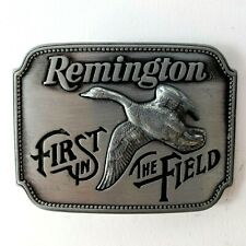 Vintage Remington Guns First In The Field Belt Buckle Canada Goose Firearms