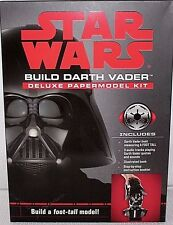 "DISNEY STAR WARS BUILD DARTH VADER DELUXE PAPERMODEL KIT 12"" TALL BATTERIES INC."