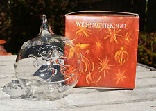 VINTAGE CRYSTAL CHRISTMAS ORNAMENT! BERLIN DESIGN WEIHNACHTSKUGEL 1976 XMAS TREE