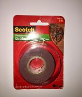 Scotch Permanent Outdoor Mounting Tape 1 INx60 IN Roll