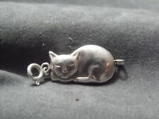Made in Italy 925 Sterling Silver~Tested~Cool Siamese Cat Traditional Charm