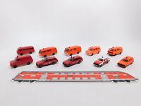 CT508-0,5 #10x Herpa H0 / 1:87 Modèle Pompier / Fw: Ford + VW Lt / Bus +