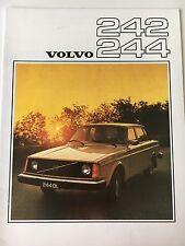 Original 1976 Volvo 242 244 Sales Brochure
