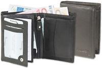 Protecto Herren Geldbörse mit RFID-Blocker aus feinem Nappa-Leder in Schwarz