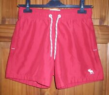 ABERCROMBIE AND FITCH RED SWIM SHORTS/TRUNKS SIZE XS