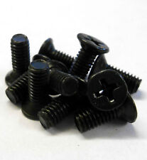 M4 x 12mm 4 x 12 Black Cross Flat Head Countersunk Screw x 10 Metric Thread