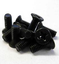 M4 x 14mm 4 x 14 Black Cross Flat Head Countersunk Screw x 10 Metric Thread