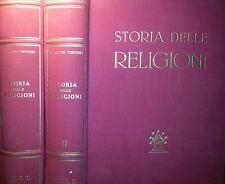 PIETRO TACCHI VENTURI: STORIA DELLE RELIGIONI UTET 1954 2 VOLUMI