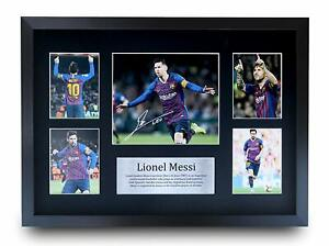 Lionel Messi Signed A4 A3 Framed Printed Autograph Liverpool Argentina Print