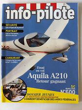 INFO-PILOTE n°600 du 03/2006; Essai vol Aquila A210/ Dossier Jeunes/ Carburant