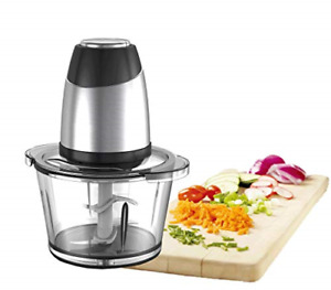 Food Processor Blender Mixer Food Chopper Meat Chopper 1.8L Glass Bowl Vegetable