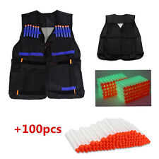 100pcsToy Bullet Darts+1pcs Tactical Vest for Nerf N-Strike Elite Battle Game