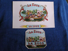 """La Zoo"" Gilt Embossed Chromolitho Inner & Outer Cigar Labels/Party Barge-River"