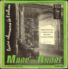 MARC ET ANDRE LEURS CHANSONS DE L'ECLUSE 45T EP BIEM VEGA V 45 P 1568