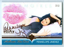 "PENNELOPE JIMENEZ ""KISS AUTOGRAPH CARD #3/3"" BENCHWARMER DREAMGIRLS PREVIEW 2016"