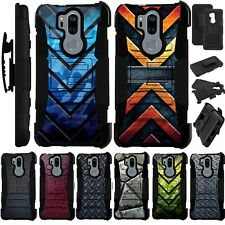 For LG G7 ThinQ Holster Case Armor Kickstand Cover LuxGuard I9