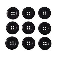BLACK Buttons Sewing / Scrap-booking / Card Making / Crafting N2905-100 x 11 mm