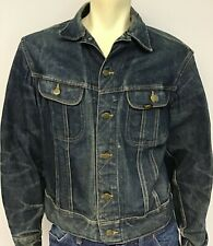 Vtg 1960's-Early 70s Lee Sanforized Union Made Denim Jean Jacket Made in Usa 42