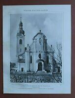 WBe) Architektur Raspenau 1907-1910 Jubiläum Pfarrkirche Tschechien 24x31cm